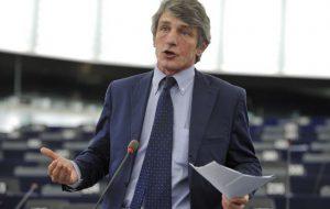 David Sassoli, Vicepresidente del Parlamento europeo, visita la Base delle Nazioni Unite (UNHRD) di Brindisi