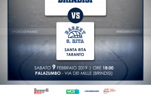 La Dinamo Brindisi ospita l'Anspi S. Rita Taranto