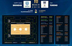 In vendita i biglietti per Happy Casa Brindisi-Fiat Torino