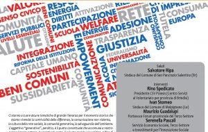 """""""Per una comunità generativa, solidale ed innovativa"""": Martedì 26 Febbraio un convegno a San Pancrazio Salentino"""