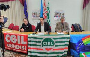 Grande partecipazione da Brindisi alla Manifestazione Nazionale di Cgil Cisl Uil a Roma