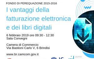 """Camera di Commercio di Brindisi: domani convegno su """"I vantaggi della fatturazione elettronica e dei libri digitali"""""""