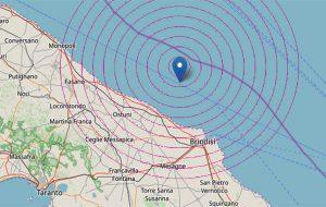 Forte scossa di terremoto fa tremare Brindisi e provincia