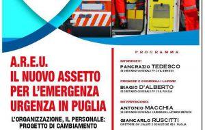 Areu, il nuovo assetto per l'emergenza in Puglia: domani incontro organizzato da FP Cgil