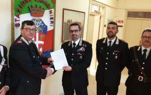 Encomio collettivo ai carabinieri della Stazione di Oria