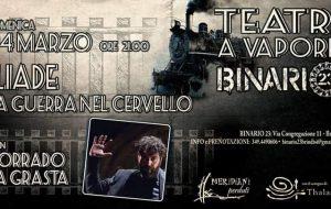 Iliade, la guerra nel cervello: Corrado La Grasta torna a Teatri A Vapore