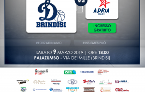 La Dinamo Brindisi chiude la regular season ospitando l'Adria Bari