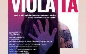 Viola(ta): al Teatro Kopò una performance per dire basta alla violenza sulla donna