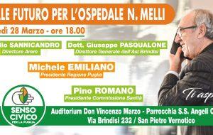"""Michele Emiliano a San Pietro per l'iniziativa """"Quale futuro per l'ospedale N. Melli"""""""