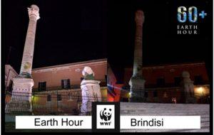 Oggi Earth Hour a Brindisi: per un'ora si spengono Palazzo Nervegna, Colonne Romane, Monumento al Marinaio, Fontana Tancredi e piazza Duomo