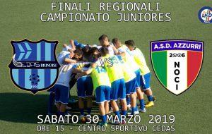 Juniores under 19: la Cedas Avio Brindisi si prepara alle finali per il titolo regionale