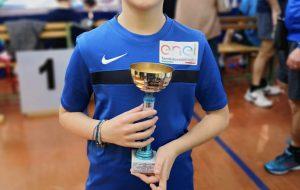 Tennistavolo: il brindisino Matteo Antonazzo sul podio più alto del campionato interprovinciale categoria Giovanissimi