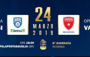 Happy Casa Brindisi-Varese: da oggi biglietti in vendita. Tutti i prezzi
