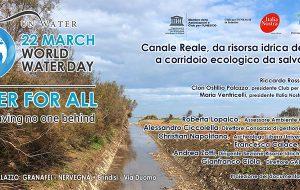 Canale Reale, da risorsa idrica del territorio a corridoio ecologico da salvaguardare: se ne parla lunedì 25 a Palazzo Nervegna