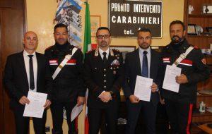Il Comandante De Magistris premia i Carabinieri distintisi in attività di servizio
