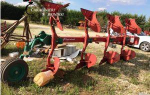 Ritrovata attrezzatura agricola rubata a Mesagne: possessore denunciato per ricettazione