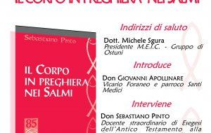 """Lunedì 8 ad Ostuni si presenta il libro """"Il corpo in preghiera nei Salmi"""""""