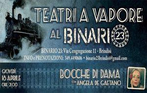Bocche di Dama: giovedì 18 Angela De Gaetano a Teatri a Vapore