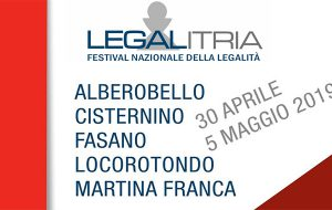Tutto pronto per la seconda e terza giornata di LegalItria, il primo Festival nazionale di legalità della Puglia