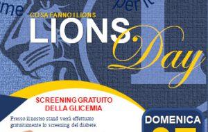 Lions Day: domenica screening del diabete gratuito in Piazza Vittoria