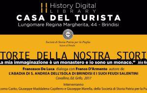 """Giovedì 16 si presenta il libro """"L'Abadia di S. Andrea dell'Isola di Brindisi e i suoi feudi salentini"""""""