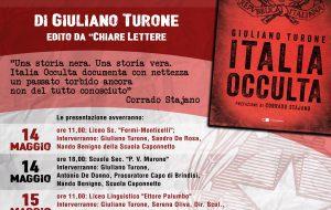 """Si presenta a Brindisi il libro """"Italia Occulta"""" di Giuliano Turone"""