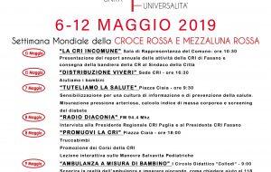 Le iniziative per la Settimana della Croce Rossa 2019