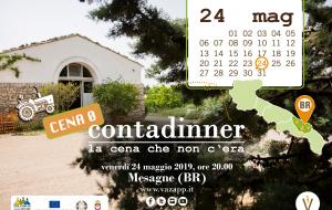 """A Mesagne la """"Cena 0"""" di Contadinner, le cene contadine di Vazapp"""
