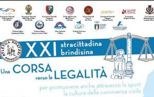 """Presentata la XXI Stracittadina brindisina """"Una corsa verso la legalità"""". Appuntamento a domenica 19, ore 9.00"""