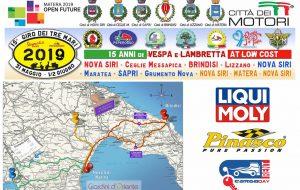 Domani fa tappa a Brindisi il 15° Giro dei Tre Mari: in città centinaia di Vespisti e Lambrettisti