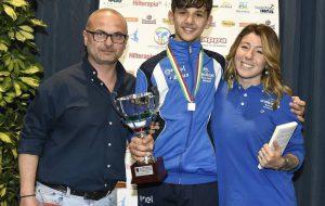 Raffaele Colaci sul podio del Gran Premio Giovanissimi di Scherma a Riccione
