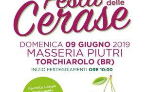 """Domenica a Masseria Piutri la prima edizione della """"Festa delle Cerase"""""""