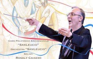 """Mons. Marco Frisina dirige coro e orchestra per i 25 anni del del Coro Polifonico Arcivescovile """"San Leucio"""""""
