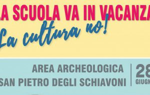 La scuola va in vacanza, ma la cultura no!: venerdì 28 giugno laboratorio di archeologia presso l'Area Archeologica San Pietro degli Schiavoni
