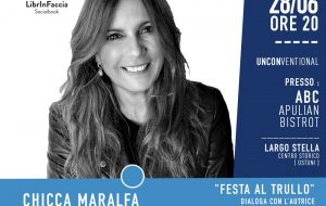 """Oggi il secondo appuntamento di Librinfaccia – Unconventional: Chicca Maralfa """"Festa al trullo"""""""