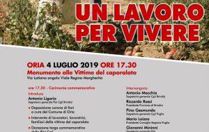 Giovedì 4 ad Oria Maurizio Landini partecipa ad una iniziativa contro sfruttamento e caporalto
