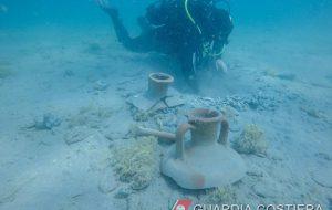 Le prime immagini dei reperti archeologici di valore inestimabile ritrovati nello specchio di mare antistante il litorale brindisino