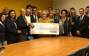 AIS Brindisi dona 2305 euro a BrinAil per il reparto di Ematologia del Perrino