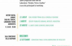 """Brindisi Porta e Confine: giovedì 11 il primo dei tre """"dialoghi di studio ed approfondimento"""""""