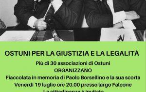 Ad Ostuni un corteo commemorativo in ricordo di Paolo Borsellino
