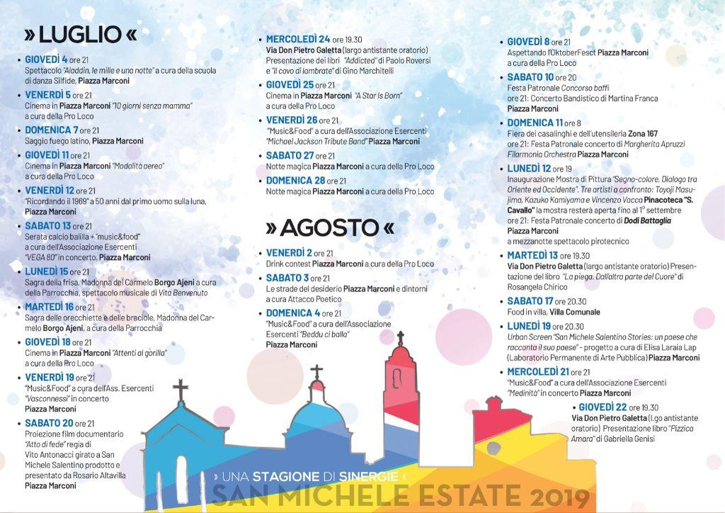 Calendario Eventi Ostuni 2020.San Michele Estate 2019 Il Programma Degli Eventi Culturali