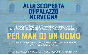 Per man di un uomo: visita guidata al Palazzo Nervegna con letture di sensibilizzazione contro il femminicidio