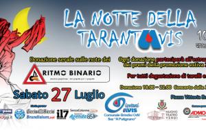 """Tutto pronto per """"La notte della TARANTAVIS"""": appuntamento sabato 27 in Piazza Vittoria"""