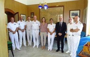 Gli onorevoli Aresta e Palmisano visitano la Capitaneria di Porto di Brindisi