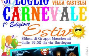 Oggi il Carnevale Estivo di Villa Castelli
