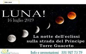 """Martedì 16 a Torre Guaceto """"Luna! La notte dell'eclissi sulla strada del Principe"""""""