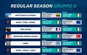 Basketball Champions League: ecco il calendario completo della prima fase