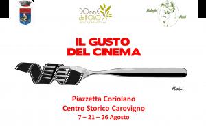 """Domani a Carovigno al via la III edizione de """"Il Gusto del Cinema"""", rassegna cinematografica con degustazioni"""
