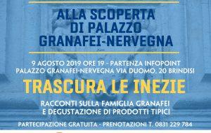 Trascura le inezie: venerdì 9 visita guidata al Palazzo Granafei-Nervegna di Brindisi con racconti sulla famiglia Granafei e una degustazione di vini e prodotti tipici