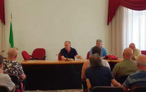 Il sindaco Rossi incontra i lavoratori Leucci